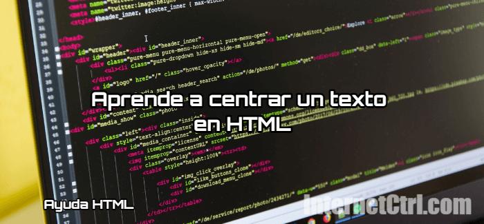 tutorial para centrar un texto en html