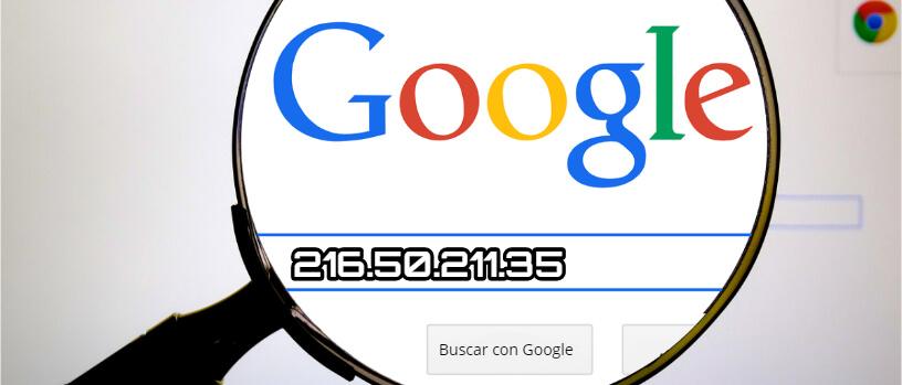 utilidad de saber la direccion IP de un dominio o de Google