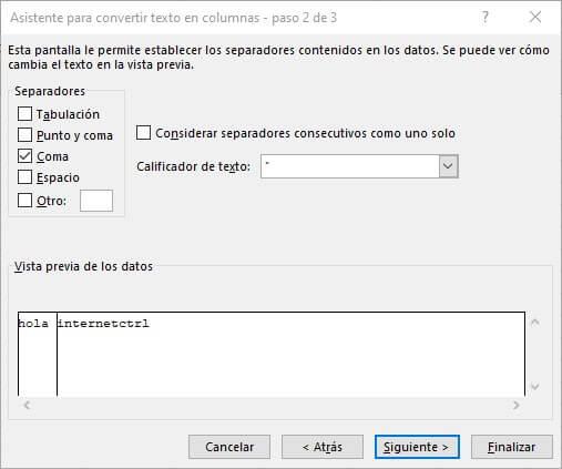 paso 2 para abrir un archivo csv