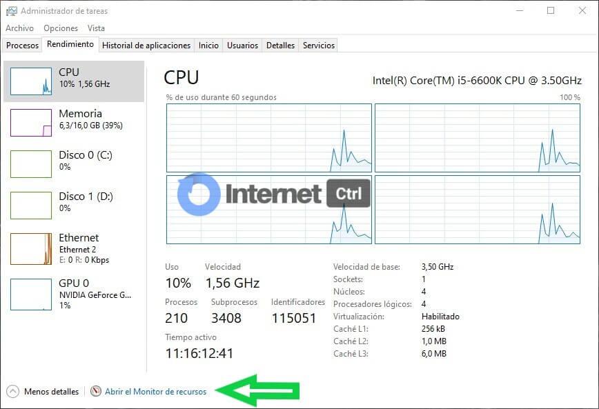 como abrir el monitor de recursos de windows desde el administrador de tareas