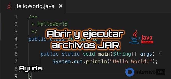 guia para abrir y ejecutar archivos JAR en Windows
