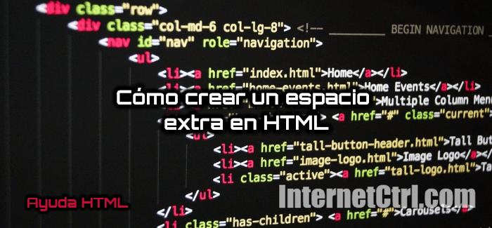 mejores metodos para crear espacios en html