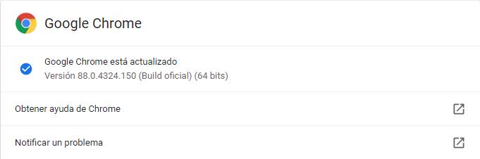 google chrome actualizado