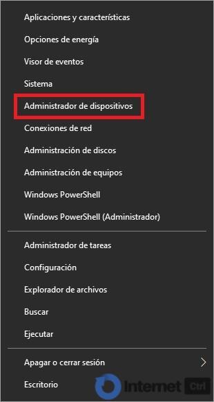 abrir administrador de dispositivos