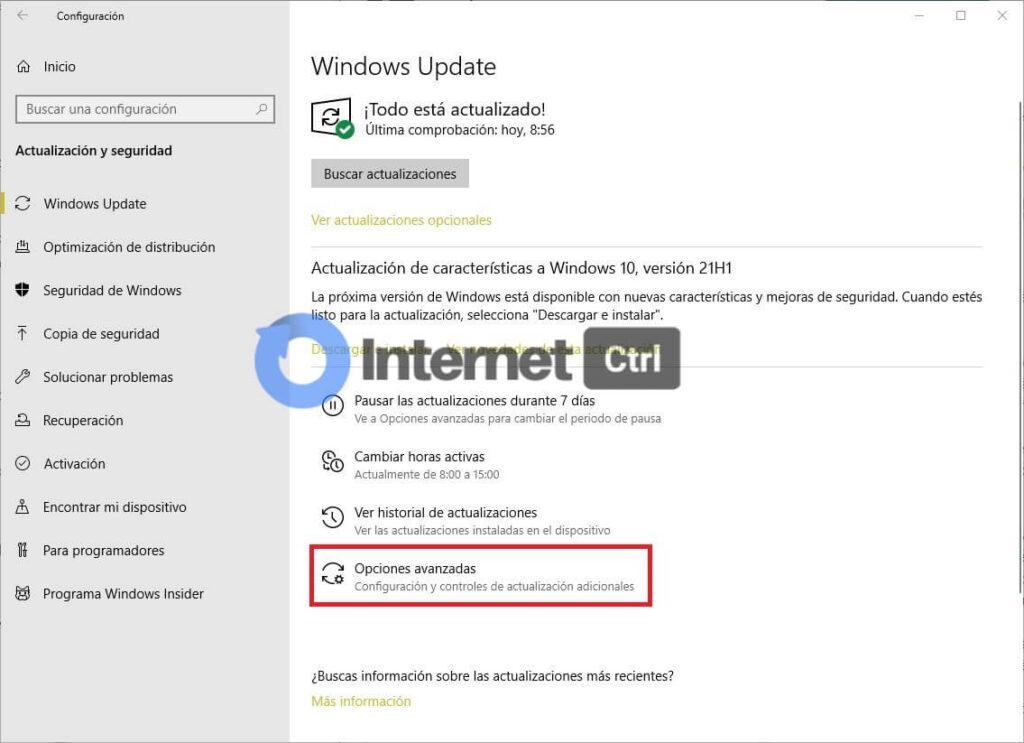 seleccionando opciones avanzadas para arreglar error dns en windows