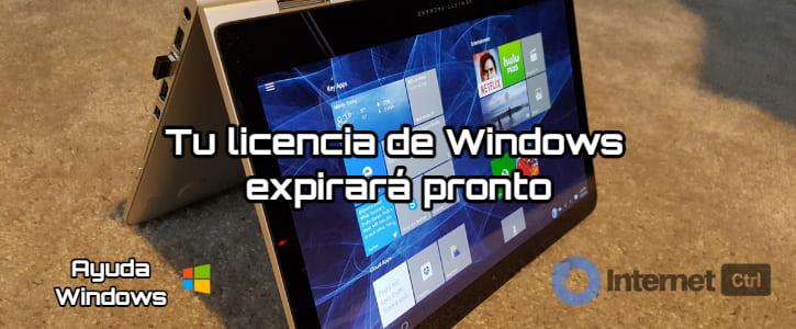 soluciones al error licencia de windows expirara pronto
