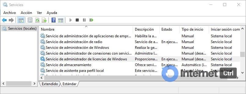 localizar el servicio de administrador de licencias de windows
